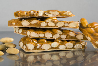 Toasted Almond Brittle with Caramelized White Chocolate